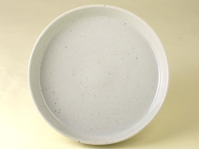 陶房青 白 パン皿