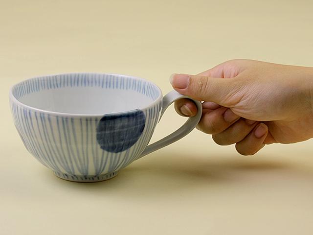 陶房青 丸紋十草 スープカップ