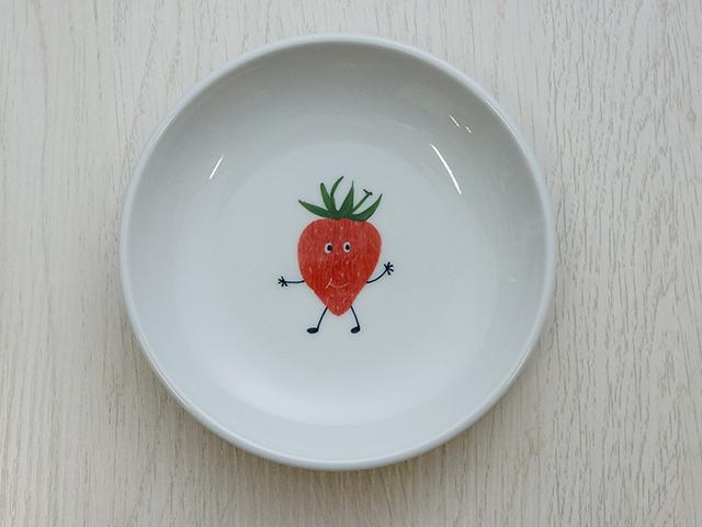 陶房青 イチゴ 5寸皿