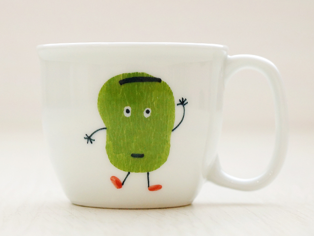 陶房青 そら豆 ミニマグカップ