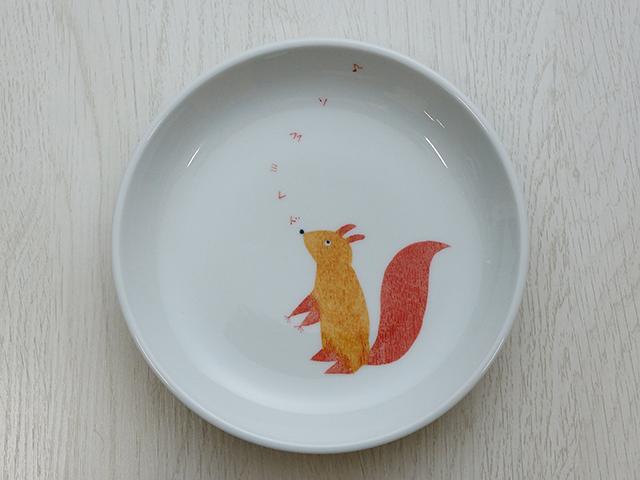 陶房青 リス 6寸皿