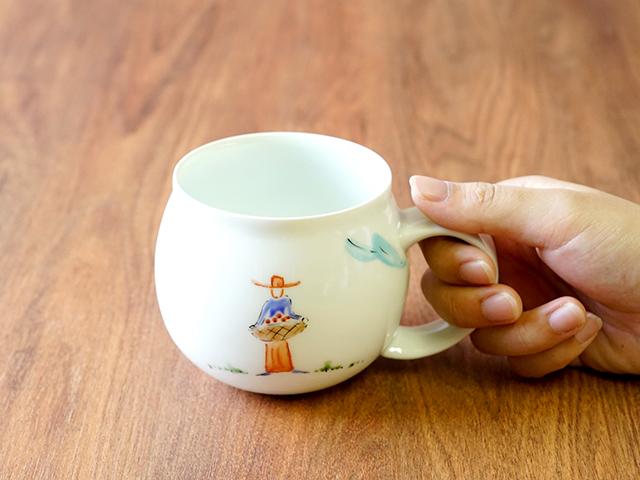 波佐見 陶房青 吉村陶苑  陶房青専門ショップAo プロバンス マグカップ