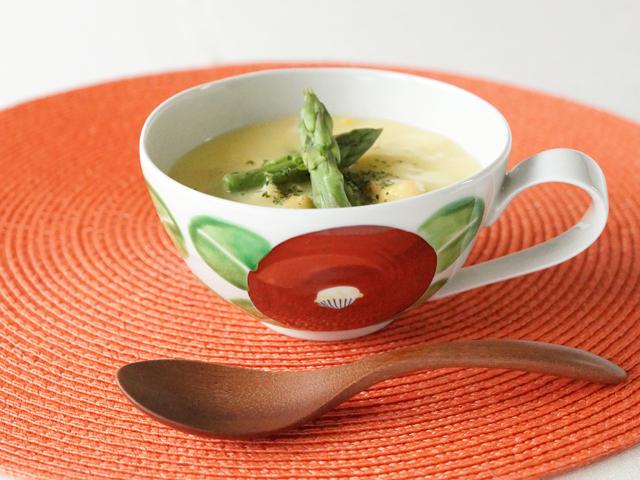 陶房青 赤椿 スープカップ
