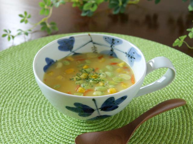 シダ紋 スープカップ