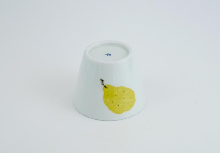 波佐見焼 陶房青 和食器 器 うつわ マティーニ 北欧 和紙染め オリーブ 洋梨 そば猪口 小鉢 カップ