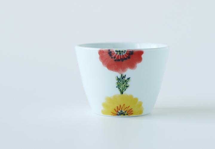 波佐見焼 陶房青 和食器 器 うつわ floral フローラル そば猪口 小鉢 カップ