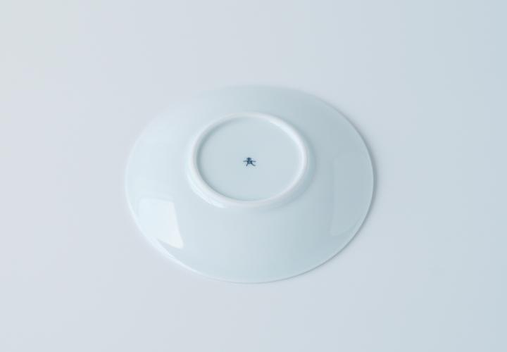 波佐見焼 陶房青 AO SHOP 吉村陶苑 プレゼント フローラル 丸皿 4寸皿 ケーキ皿 取皿