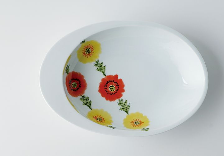 波佐見焼 陶房青 和食器 器 うつわ カレー皿 パスタ皿 楕円皿 丸皿